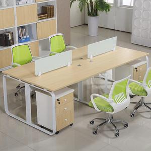 成都-现代员工电脑桌-屏风简约职员办公桌椅4人位组合-办公家具