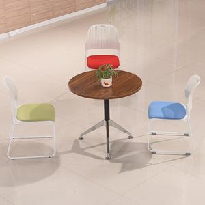简约现代洽谈桌 店面休闲接待会客桌椅 售楼处实木洽谈桌椅组合