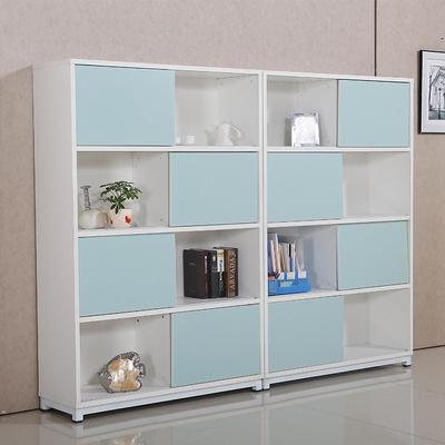 保密柜板式资料架-木质整理书柜