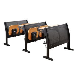 成都家具 现代简约多媒体折叠培训课桌椅 阶梯教室背座排椅K002