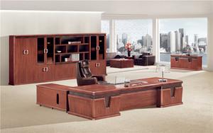 成都-老板桌椅组合-总裁桌-简约现代办公桌