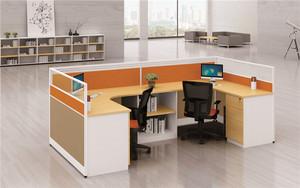 职员办公桌2/4人位办公家具简约现代屏风工作位组合多人电脑桌椅