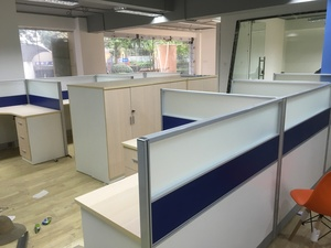办公家具创意-时尚简约公司职员办公桌4位