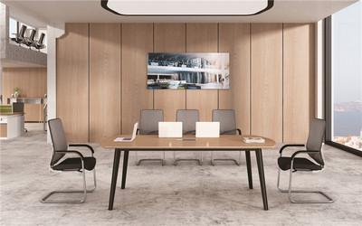 简易洽谈会议室桌椅组合-简约现代办公桌
