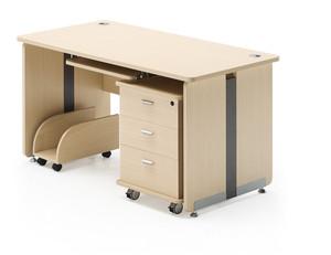 办公桌-单人经理桌-简约现代时尚老板桌-总裁桌椅