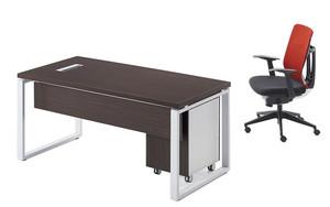 办公桌-简约现代电脑桌-钢木主管桌经理桌时尚