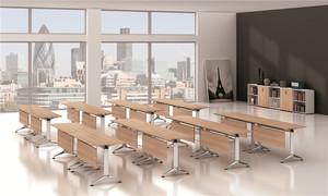 折叠会议桌,自由组合办公桌,大学课桌,带轮拼接移动折叠培训桌课桌