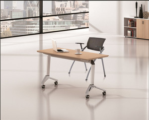 复古工业风大型会议桌-长桌简约现代-黑色烤漆条形桌-电脑桌餐桌