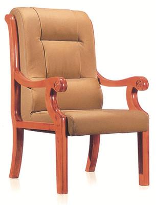 牛皮办公椅-四角办公椅