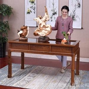 红木家具花梨木书法桌实木书画桌原木画案中式仿古书桌简约写字台