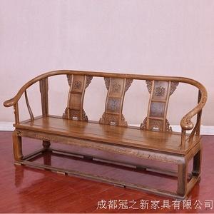 罗汉床实木中式沙发床老南榆木酒店茶楼民宿仿古家具简约禅意床榻
