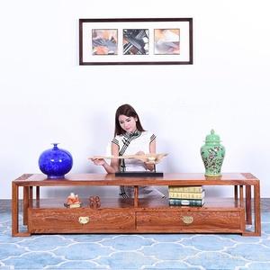 实木大板桌原木-巴花胡桃木-新中式家具茶几